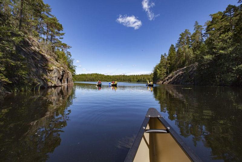 Sortie en canoë au parc national de Nuuksio, Finlande - Clo & Clem - www.cloetclem.fr